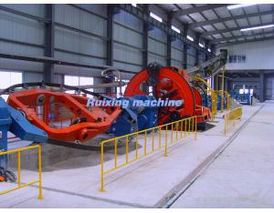 Cabling machine for cabling the mineral-use cables, control cables, telephone cables