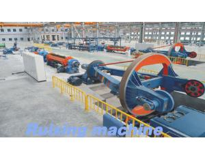 Cabling machine for cables and wires