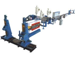 Plastic extruders for extruding PVC, PE or XLPE insulating layer onto wires and cables