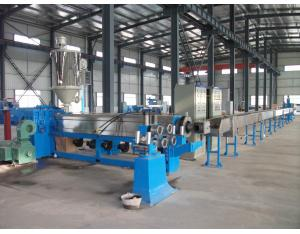 Plastic extruders for extruding PVC, PE or XLPE protective jacket onto cables and wires