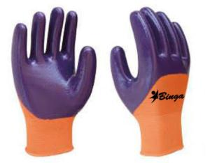 Latex Coated 13G Polyester Shell Safety Glove