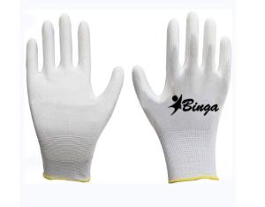 PU Coated 13G Polyester Shell Safety Glove