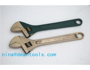 non sparking adjustable spanner al-cu or be-cu 100-600mm