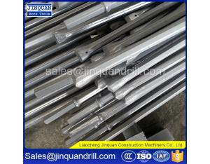 Jinquan mining drill tools,shank 22*108mm or 25*108mm tapered steel rods size