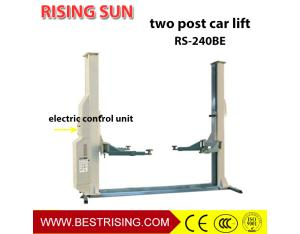 Electric release two post car lift