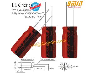 12000 - 20000 Hour Shelf Life Capacitor Lighting Radial Lead Aluminum Electrolytic Capacitor RoHs