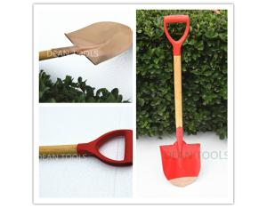non sparking round shovel , wooden handle ,point shovel