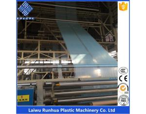 Gusset and Collapser 14m wide agricultural pe film blowing machine