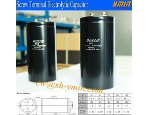Inverter Capacitor Screw Terminal Aluminium Electrolytic Capacitor for Solar PV Power Inverter RoHS