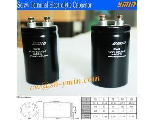 Low ESR Capacitor Screw Terminal Aluminium Electrolytic Capacitor for Air-condtioners