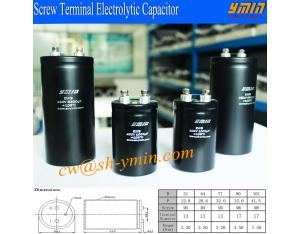 105°C 3000 Hours 450V 3300uF Capacitor Grade A Screw Terminal Electrolytic Capacitor RoHs