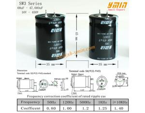 High Voltage Capacitor Snap in Aluminium Electrolytic Capacitor for Geothermal Heat Pump RoHS