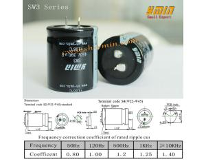 High Frequency Capacitor Snap in Aluminium Electrolytic Capacitor for AC Wave Inverter