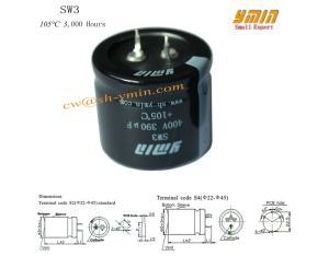 Low ESR Capacitor Snap in Aluminium Electrolytic Capacitor for Wind Turbine Power Inverter
