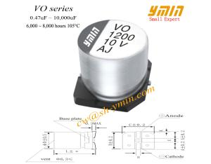 Standard SMD Capacitor Shanghai Ymin SMD Aluminium Electrolytic Capacitor for General Purpose RoHS