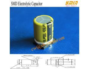 160V 100uF SMD Capacitor Solar LED Lighting SMD Aluminium Electrolytic Capacitor RoHS Compliant
