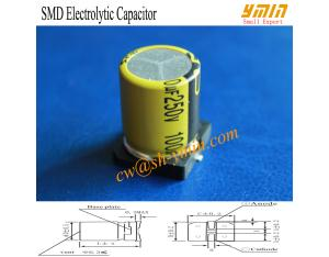 High Frequency SMD Capacitor SMD Aluminium Electrolytic Capacitor for Electronic Ballast RoHS