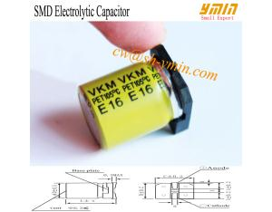 2016 Hot Sell SMD Capacitor Sleeving SMD Aluminium Electrolytic Capacitor for General Purpose RoHS