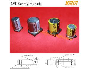 General Purpose SMD Capacitor -55°C~+125°C SMD Aluminium Electrolytic Capacitor RoHS Compliant