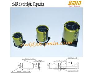 105°C 7000 Hours 250V 22uF SMD Aluminium Electrolytic Capacitor 10x13mm -20% - +20% RoHS