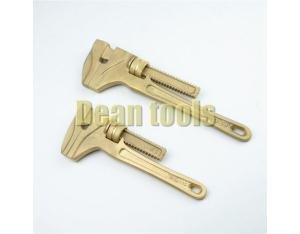 non sparking monkey adjustable wrench , pipe wrench , albronze material hand tools