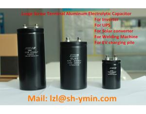 Long life screw terminal electrolytic capacitor for control device of railway electric car