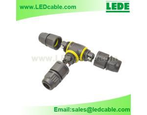 IP68 Waterproof T Type Cable Connector, Solderless