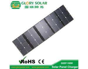 Import 100 Watt Folding Camping Solar Panels Made By Sunpower Solar Cell 18V