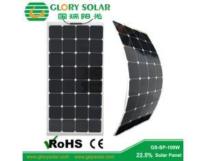 High Efficiency Monocrystalline 100W Flexible Solar Panel for Roof Installation