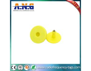 Long Range TPU LF RFID Animal Identification Ear Tag For Livestock Management
