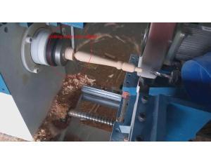 Auto feeding full automatic wooden handle making cnc lathe machine