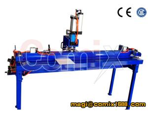 Portable PVC conveyor belt finger punch machine