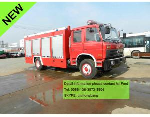 Dongfeng 5.5cbm water tank fire engine fire fighting truck