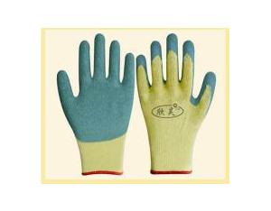 10gauge cotton latex coated safety work glove