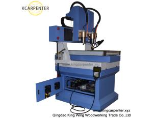mini cnc router for marble stone with double engraving heads KC4040-2H
