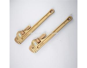 Spark Proof Non Sparking Be-Cu Alloy Copper Pipe Wrench Pipe spanner