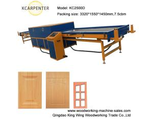 PVC film vacuum membrane press machine for door