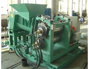 Double conical screw extruding sheeter
