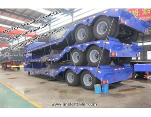 3 4 5 Axles 50 60 70 T Tons Cimc Lowbed Lowboy Low Bed Trailer