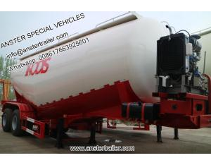 30 40 50 60 m3 Cbm dry bulk powder pneumatic Cement Tanker Trailer