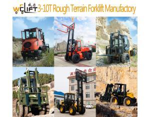 Welift 3-10t Rough Terrain Forklift Manufactory