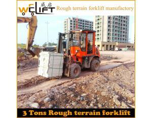 3000kg Rough Terrain Forklift