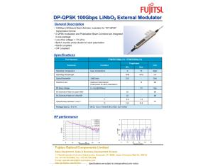 Fujitsu 100G modulator /FTM7977HQA/
