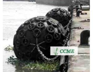 Marine dock floating pneumatic rubber fender