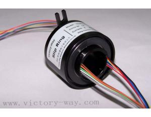 Mini through bore slip ring with 20mm through-bore in the center