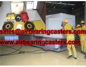 Air bearings efficient material movement