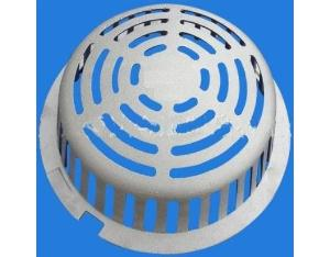Self Locking Low Profile Aluminum Dome for Roof Drain Body and Floor Drain Body