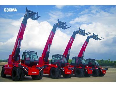 5 ton telescopic crane loader option fork bucket work platform sales rental warehouse farm