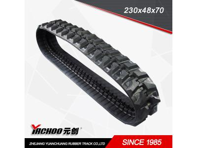 Rubber Products rubber tracks for excavator,small robot rubber tracks 230x48x70