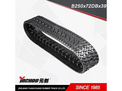 snow rubber track B250x72DBx39